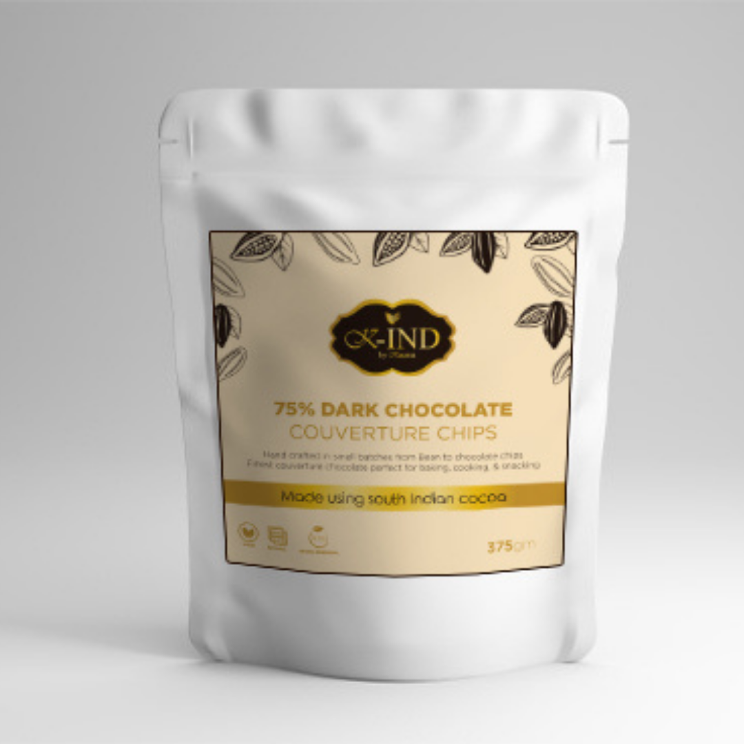 Kauma-75%-Dark-Chocolate-Couverture-Chips (375gm)